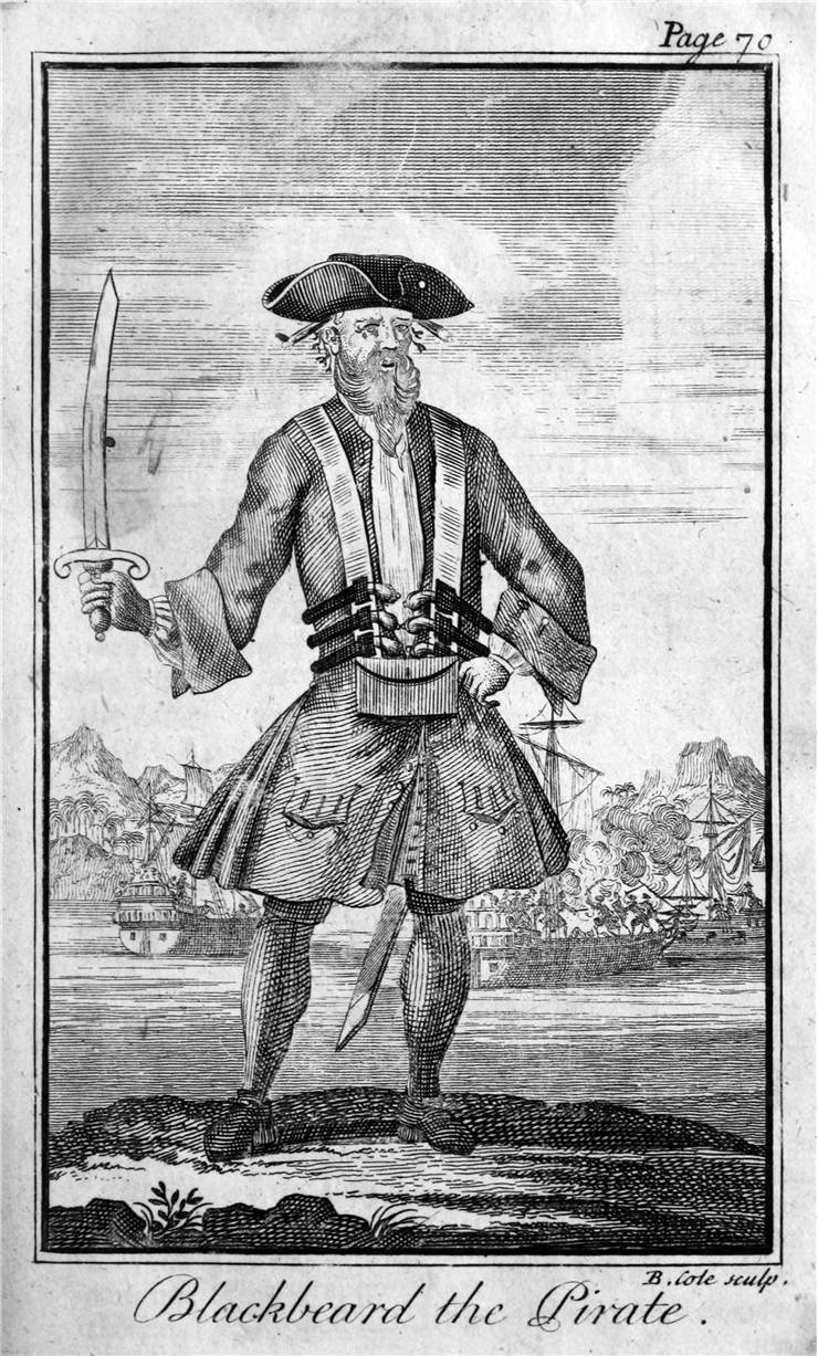 Picture Of Famous Pirate Blackbeard The Pirate