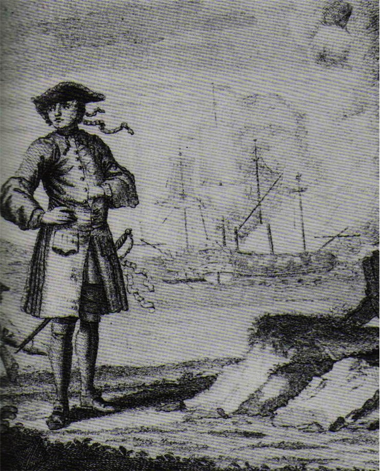 Picture Of Famous Pirate Edward England And Ship Fancy