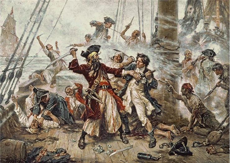 Picture Of Pirate Fight